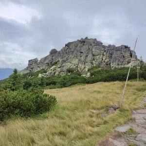 Tomáš Mucha na vrcholu Mužské kameny (6.8.2021 11:30)