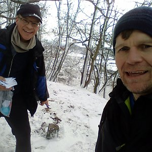 Martin na vrcholu Lhota (23.1.2021 15:45)