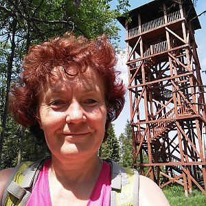 Anna na vrcholu Eliášovka (15.6.2019 13:50)