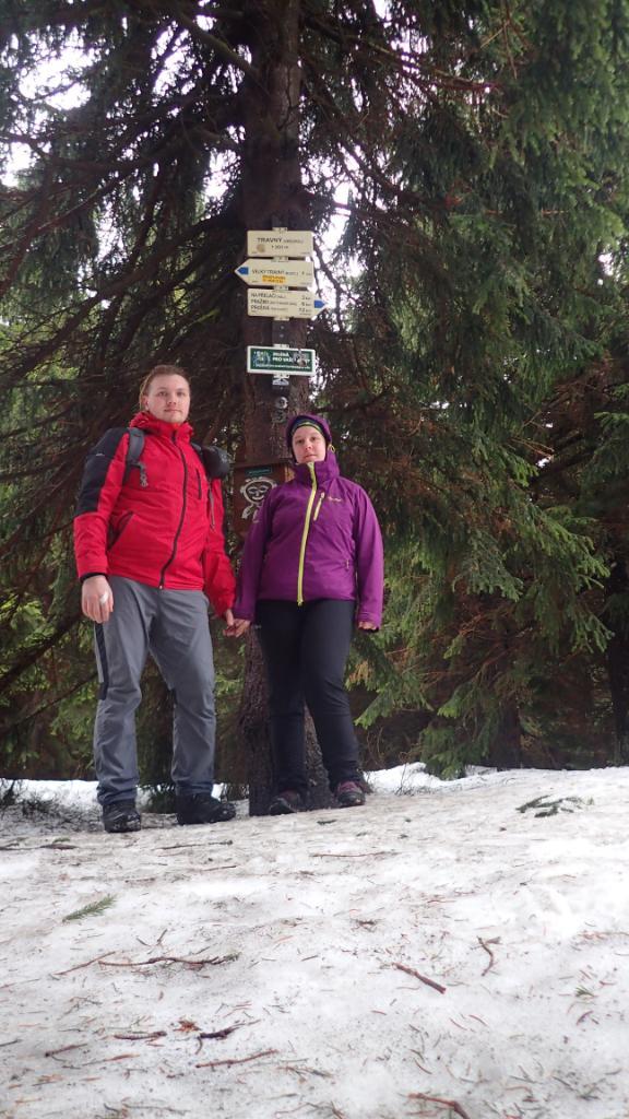 Janča na vrcholu Travný (31.3.2018 11:06)