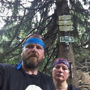 Martin a Jana Halamíčkovi na vrcholu Travný (25.8.2019 12:21)