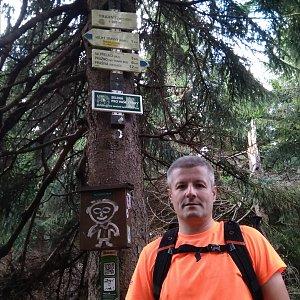 Vítězslav Vrána na vrcholu Travný (14.9.2019 10:09)