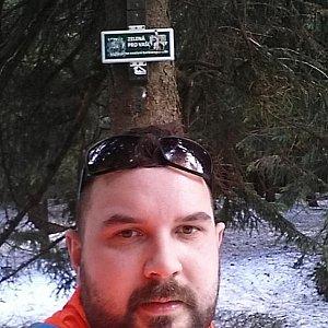 Jiří Kus na vrcholu Travný (7.4.2018 14:31)