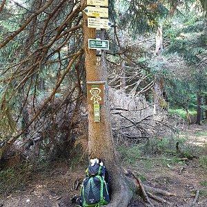 Petr Pepe Peloušek na vrcholu Travný (13.10.2019 10:58)