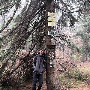 Pavel a Lukáš na vrcholu Travný (28.10.2019 10:40)