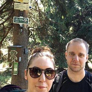 Jan Juchelka na vrcholu Travný (19.4.2018 13:00)