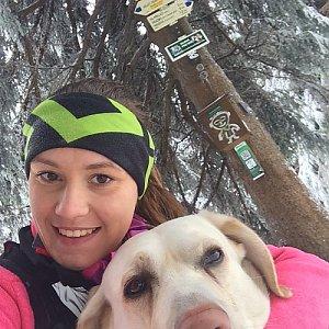 Monča Čaganová na vrcholu Travný (20.1.2018 11:30)