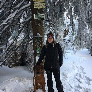 Karin Satoriová na vrcholu Travný (8.2.2020 14:22)
