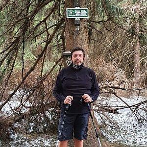 Jiří Gryz na vrcholu Travný (13.4.2020 11:19)