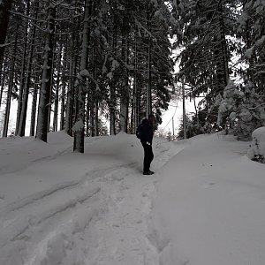 Michael Leppan na vrcholu Travný (6.1.2019 17:46)