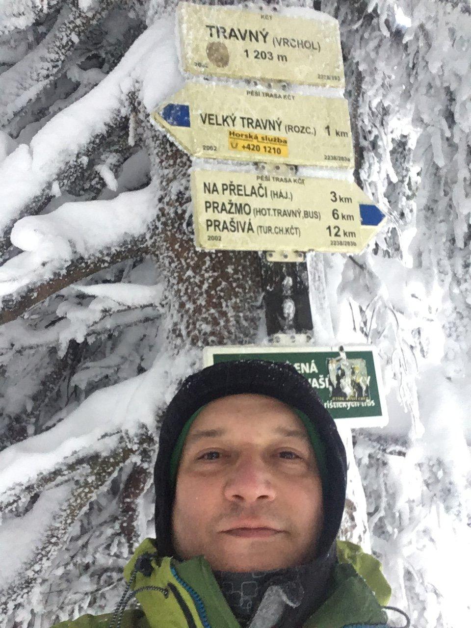 Pery na vrcholu Travný (26.1.2019 15:06)