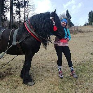 Paula Siudová na vrcholu Travný (9.3.2019 10:01)