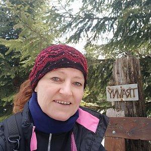 Ivana Urbánková na vrcholu Travný (3.5.2021 12:40)