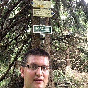 Radim Škrabánek na vrcholu Travný (23.6.2019 14:25)