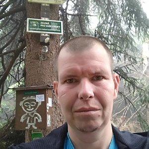 Michal Krčmář na vrcholu Travný (14.7.2019 11:38)