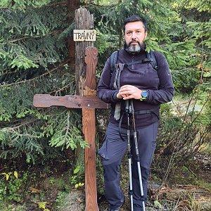 Jiří Gryz na vrcholu Travný (17.10.2021 10:35)