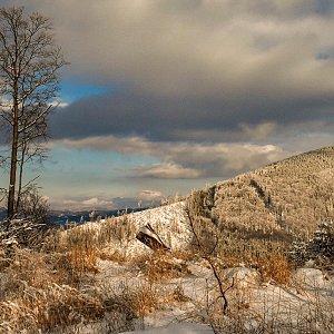 Jiřka Niedobová na vrcholu Podgruň (18.3.2021 16:15)