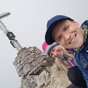 Michaela Karásková na vrcholu Vordernberger Griesmauer (17.7.2020 15:00)