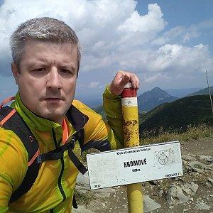 Vítězslav Vrána na vrcholu Hromové (20.7.2019 12:17)