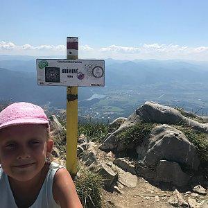 Barbora Dreslerová na vrcholu Hromové (4.8.2018 11:50)