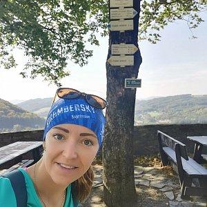 Michelle Sýkorová na vrcholu Štramberk, Trúba (2.10.2021 19:35)