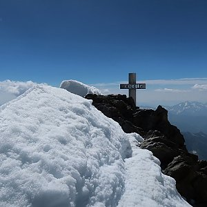 Bouřka na vrcholu Finsteraarhorn (28.7.2020 11:38)