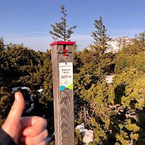 Any Vališová na vrcholu Svorová hora (11.5.2021 6:58)