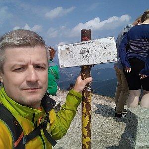 Vítězslav Vrána na vrcholu Chleb (20.7.2019 12:04)