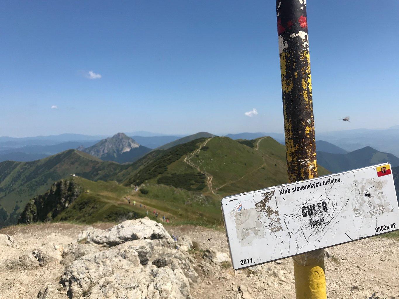 Barbora Dreslerová na vrcholu Chleb (4.8.2018 11:15)