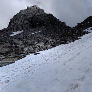 megalodon na vrcholu Zsigmondyspitze (7.8.2020 14:00)