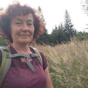Anna na vrcholu Dlouhá hora (23.7.2021)