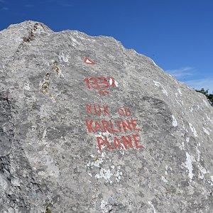 Jarda Vála na vrcholu Kuk od Karline plane (26.8.2020)