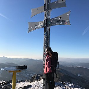 Terez Valčíková na vrcholu Kľak (23.1.2020 14:00)