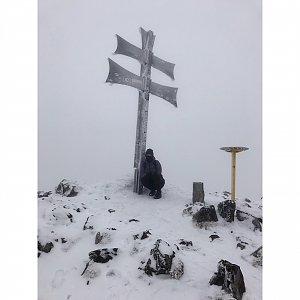 Terez Valčíková na vrcholu Kľak (3.3.2019 12:30)