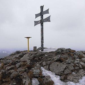 Martin Vlček na vrcholu Kľak (9.3.2019 10:30)