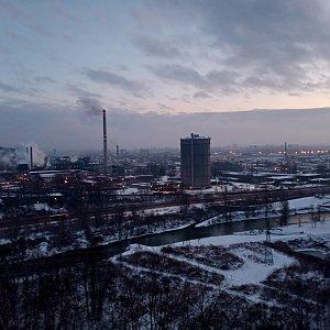 Milan Meravy na vrcholu Landek (14.1.2021 16:32)