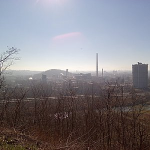 Milan Meravy na vrcholu Landek (3.3.2021 10:20)