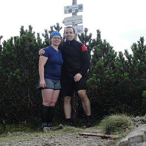 Martina na vrcholu Krakova hoľa (3.8.2016)