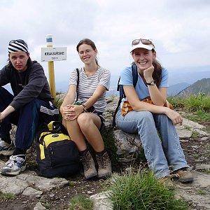 Iveta Válová na vrcholu Kraviarske (10.7.2008 15:09)