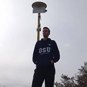 Michal Dimun na vrcholu Kykula (23.10.2020 11:42)