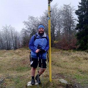 Jakub Špaček na vrcholu Kykula (12.11.2020 8:49)