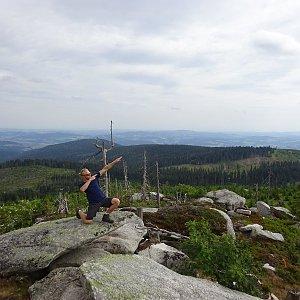 Tomáš Vašíček na vrcholu Plechý (22.7.2019 16:00)