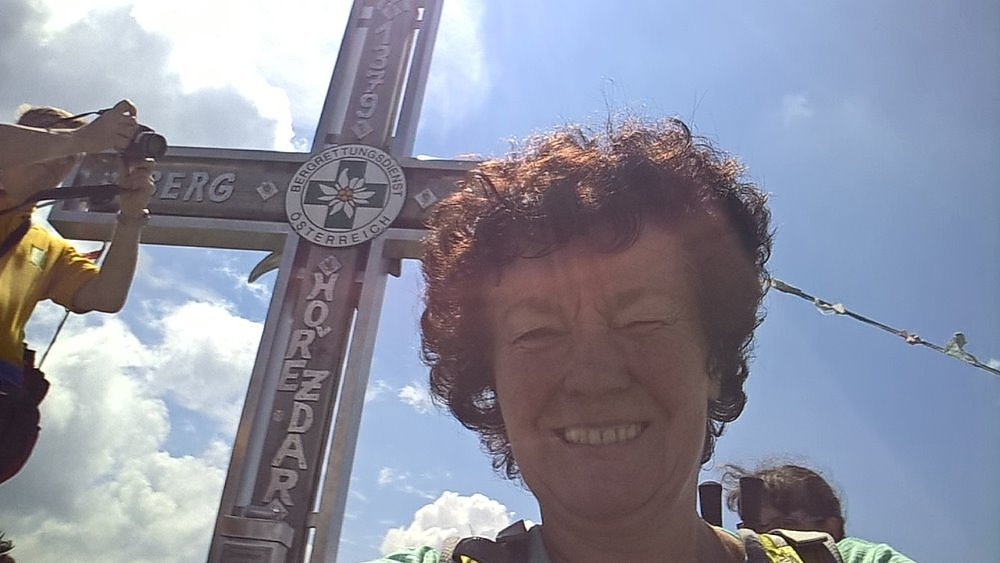 Anna na vrcholu Plechý (7.7.2018)