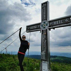 Michelle Sýkorová na vrcholu Plechý (4.7.2021 14:46)