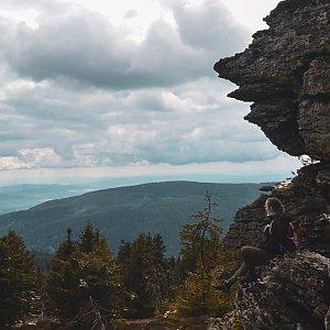 Jolana Moravcová na vrcholu Vozka (3.5.2020)