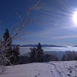 Roman Tigge na vrcholu Malá Rača (21.1.2020 13:17)