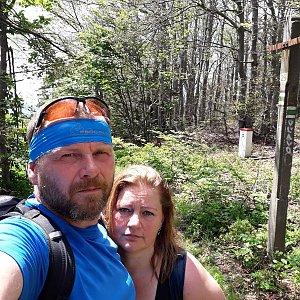 Martin a Jana Halamíčkovi na vrcholu Malá Rača (4.7.2020 12:04)
