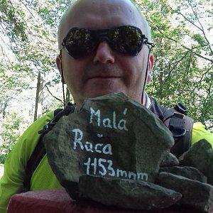 Michael na vrcholu Malá Rača (28.8.2020 12:30)
