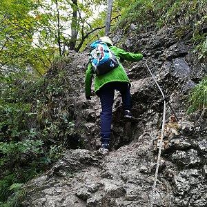 Jana Konečná na vrcholu Malý Rozsutec (29.9.2018 9:41)