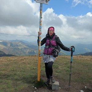 Manjula na vrcholu Ostredok (18.5.2019 12:35)